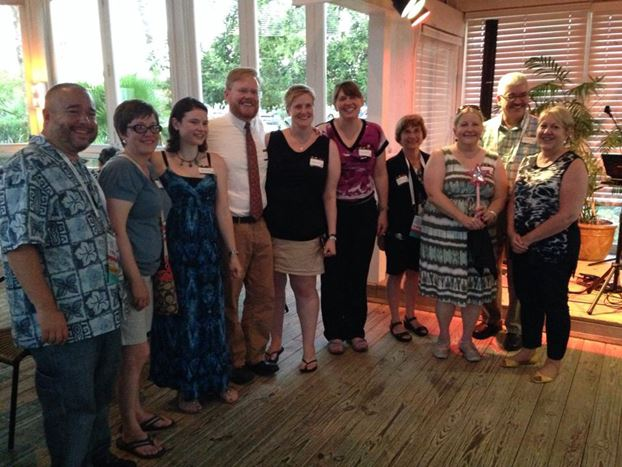 Photo: Past, present and future chairs of STARS at the 10th Anniversary Party – Tom Bruno, Tina Baich, Nora Dethloff, David Atkins, Heather Weltin, Sherri Michaels, Denise Forro, Margaret Ellingson, Tanner Wray, Mary Hollerich. Photo taken by Joe Thompson, RUSA President.
